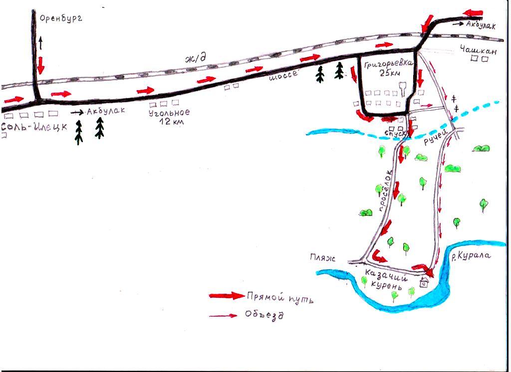 Схема проезда в Казачий курень
